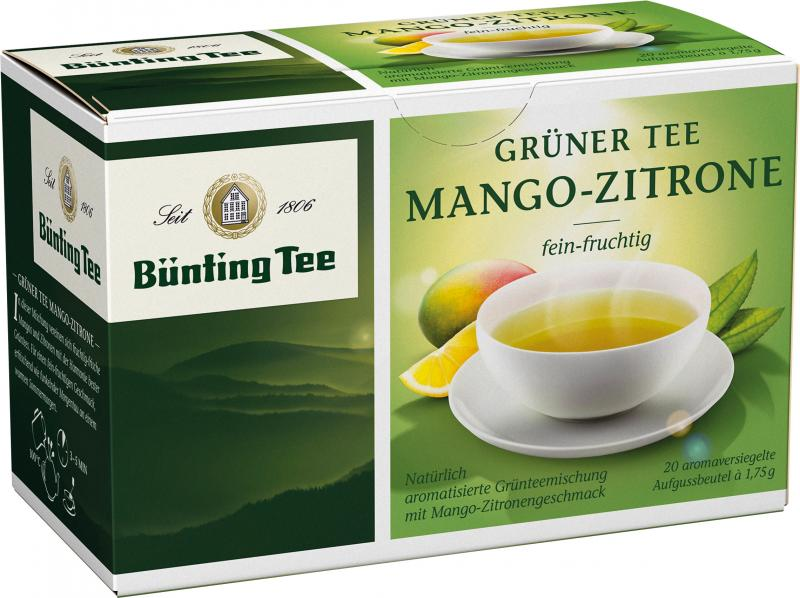 Bünting Grüner Tee Mango-Zitrone