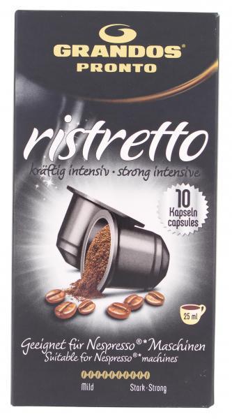 Grandos Pronto Kaffee-Kapseln Ristretto kräftig intensiv