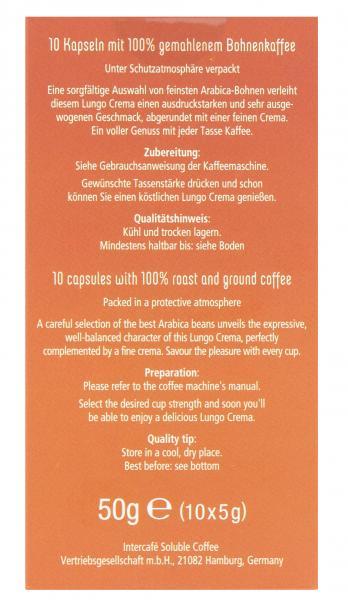 Grandos Pronto Kaffee-Kapseln Lungo Crema voller Genuss