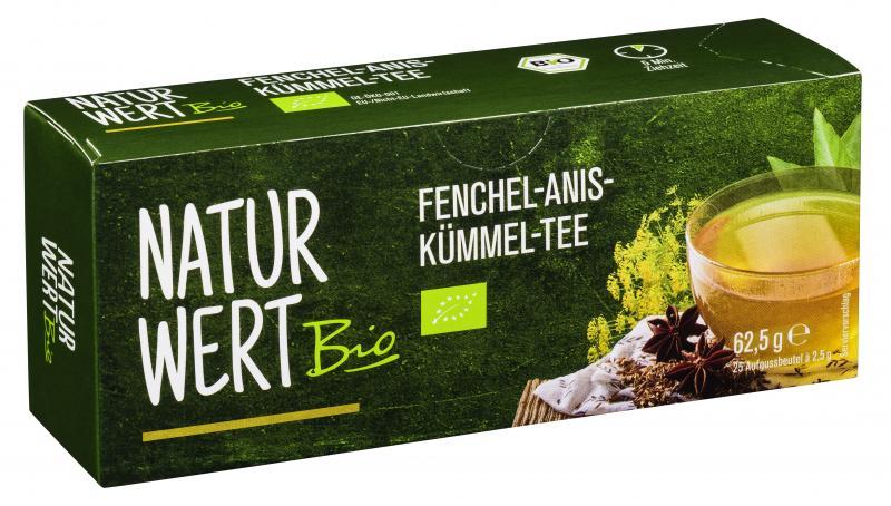 NaturWert Bio Fenchel-Anis-Kümmel-Tee