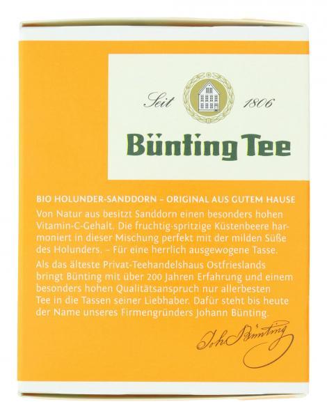Bünting Tee Bio Holunder Sanddorn