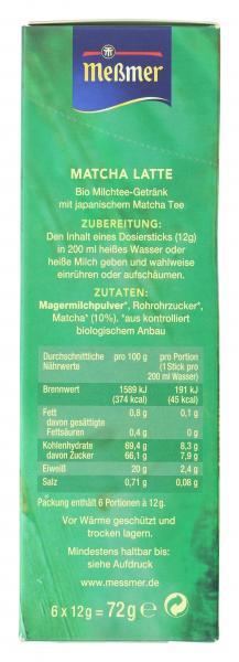 Meßmer Bio Matcha Latte Stick