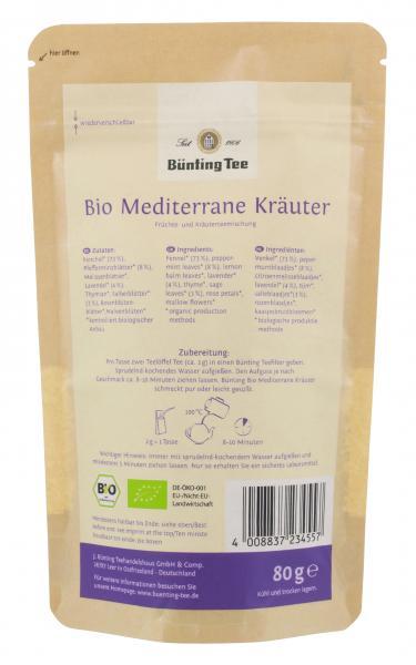 Bünting Bio Tee Mediterrane Kräuter