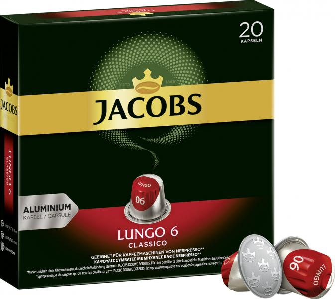 Jacobs Kaffeekapseln Lungo 6 Classico, 20 Nespresso®* kompatible Kapseln
