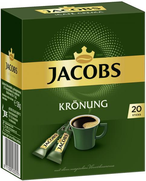 Jacobs löslicher Kaffee Krönung, 20 Instant Kaffee Sticks