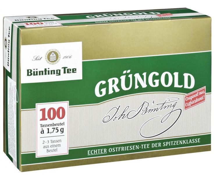 Bünting Grüngold Tassenbeutel