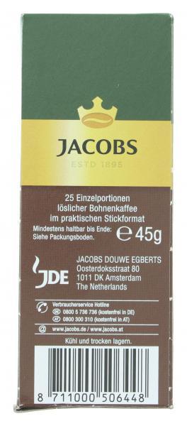 Jacobs löslicher Kaffee Espresso, 25  Instant Kaffee Sticks