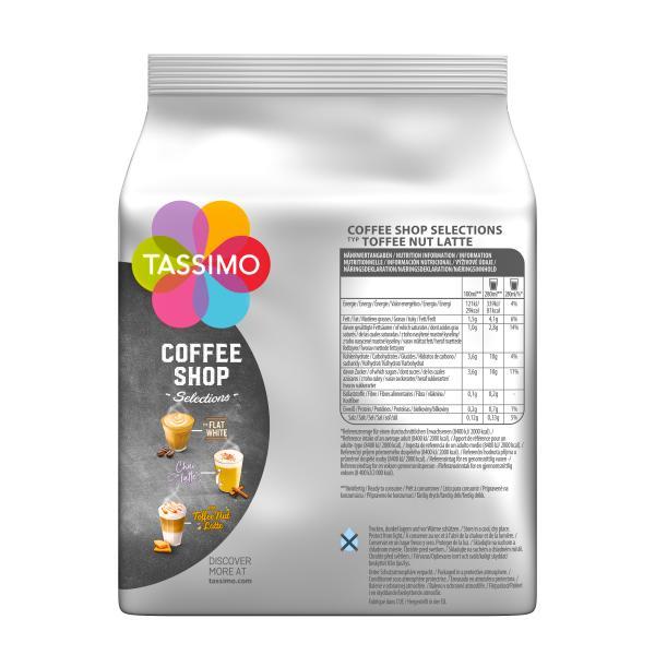Tassimo Kapseln Coffee Shop Selections Typ Toffee Nut Latte, 8 Kaffeekapseln