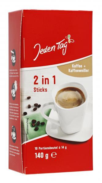 Jeden Tag 2in1 Kaffee Sticks