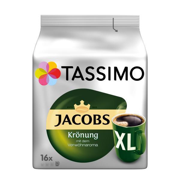 Tassimo Kapseln Jacobs Krönung XL, 5 x 16 Kaffeekapseln