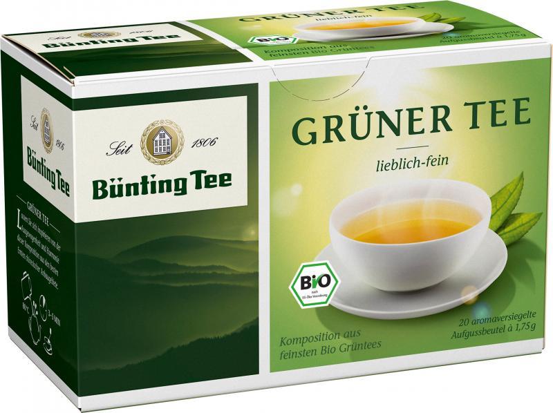 Bünting Bio Grüner Tee lieblich-fein