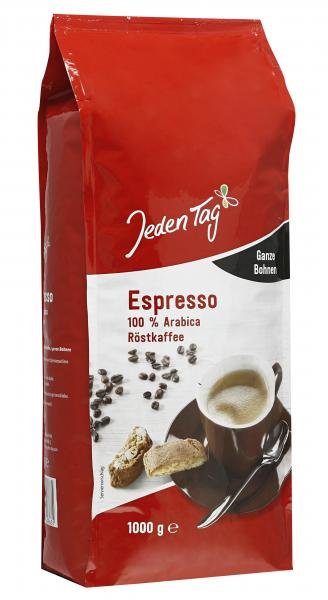 Jeden Tag Espresso ganze Bohne