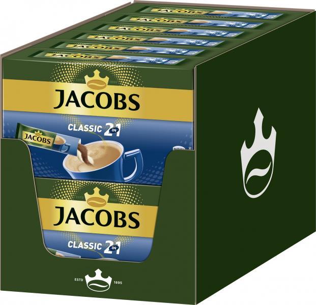 Jacobs Kaffeespezialitäten 2 in1, 10 Sticks mit Instant Kaffee