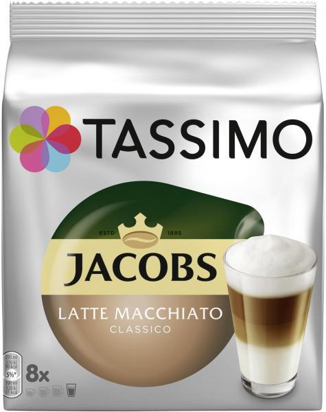 Tassimo Kapseln Jacobs Typ Latte Macchiato classico, 8 Kaffeekapseln