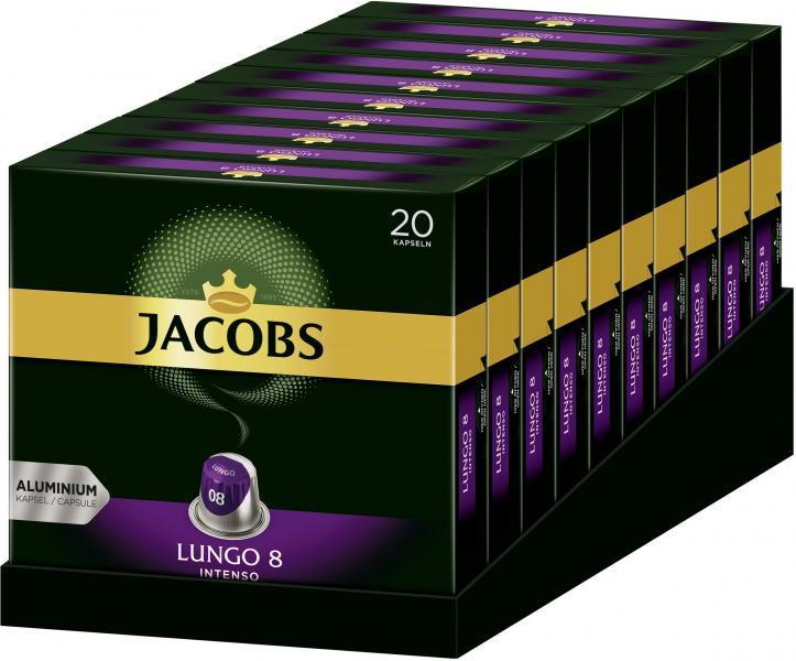Jacobs Kaffeekapseln Lungo 8 Intenso 20 Nespresso