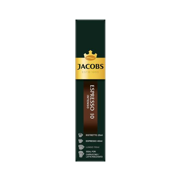 Jacobs Kaffeekapseln Espresso 10 Intenso, 10 Nespresso