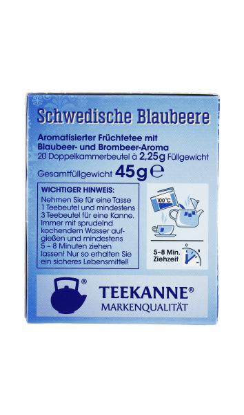 Teekanne Schwedische Blaubeere