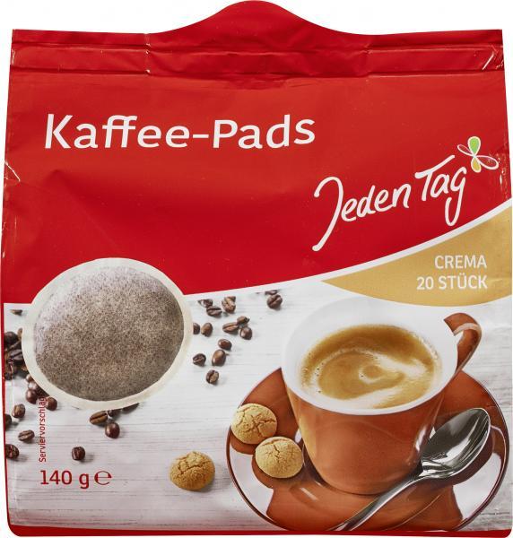 Jeden Tag Kaffee-Pads crema 6 x 20 Pads