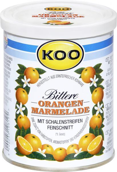 Koo Bittere Orangen Marmelade mit Schalenstreifen