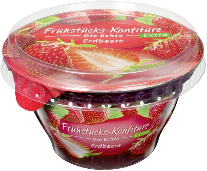 Frühstücks-Konfitüre die Echte Extra Erdbeere