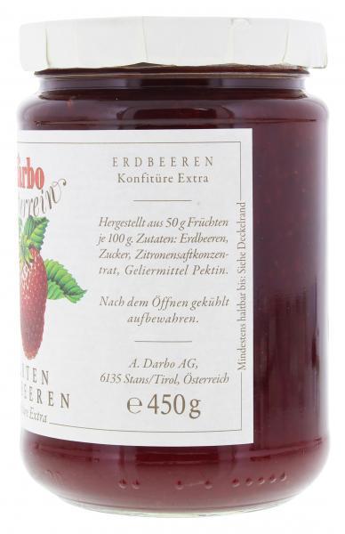 Darbo Naturrein Garten Erdbeeren Konfitüre extra