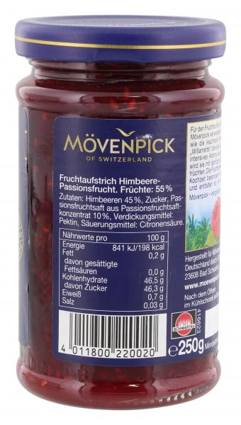 Mövenpick Gourmet Frühstück Himbeer-Passionsfrucht