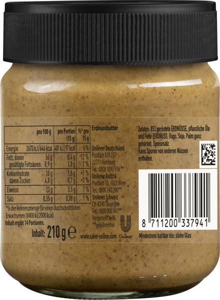 Calvé Erdnussbutter Creamy