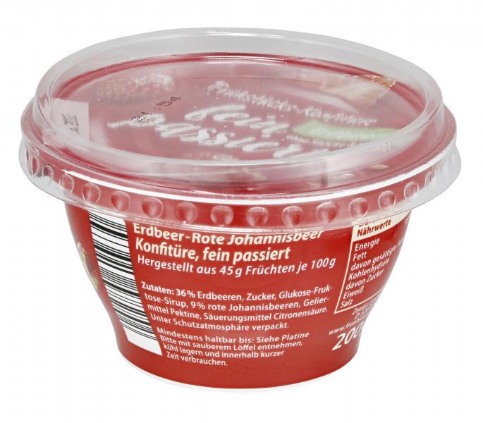 Zentis Frühstückskonfitüre fein passiert Erdbeere