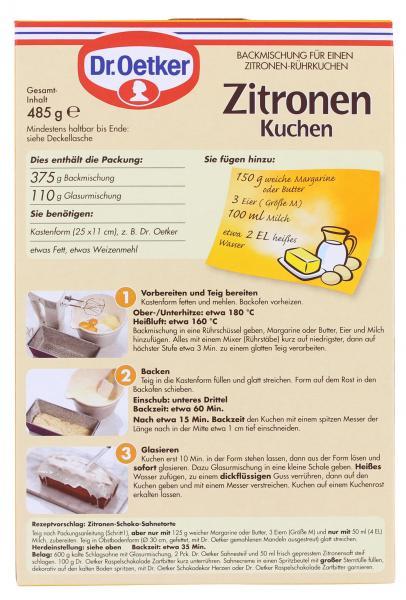 Dr Oetker Zitronen Kuchen Online Kaufen Bei Mytime De