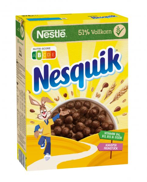 Nestle Nesquik Knusper Fruhstuck Schoko Cerealien Mit Vollkorn
