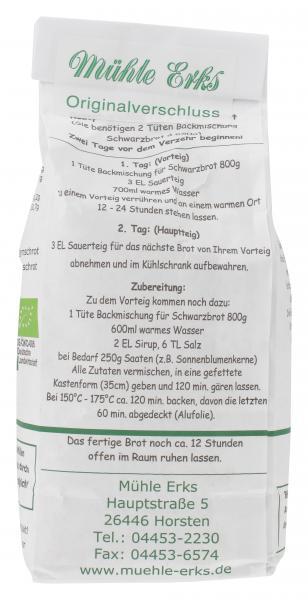 Mühle Erks Bioland Schwarzbrot