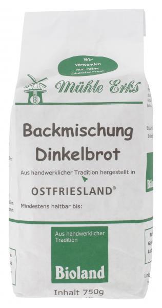 Mühle Erks Bioland Backmischung Dinkelbrot