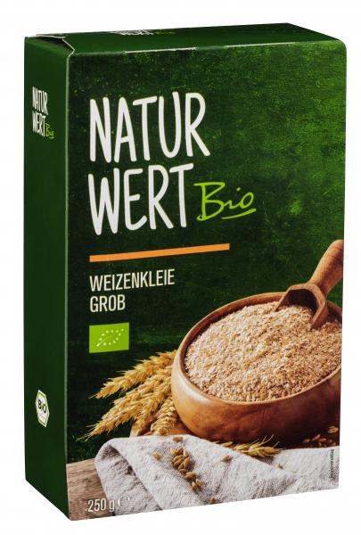 NaturWert Bio Weizenkleie reich an Ballaststoffen