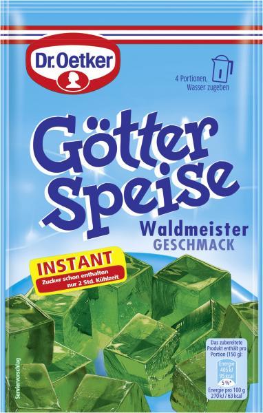Dr. Oetker Götterspeise Instant Waldmeister Geschmack