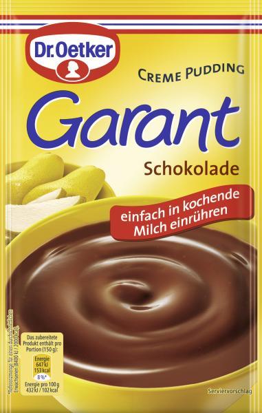 Dr. Oetker Garant Creme Pudding Schokolade