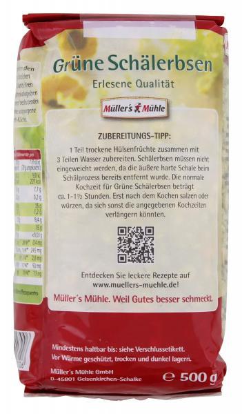 Müller's Mühle Grüne Schälerbsen