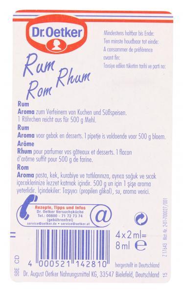 Dr. Oetker Backaroma Rum