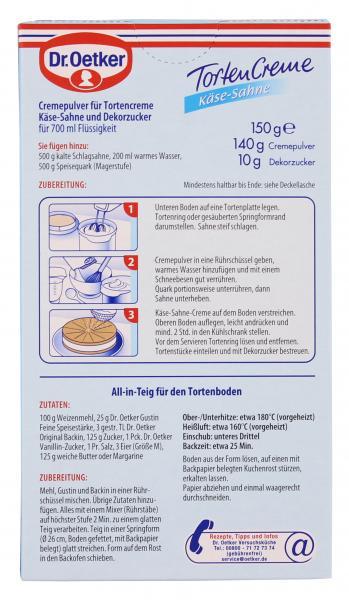 Dr. Oetker Torten Creme Käse-Sahne