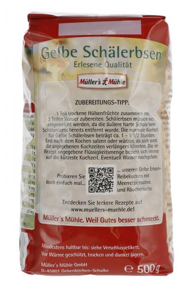 Müller's Mühle Gelbe Schälerbsen