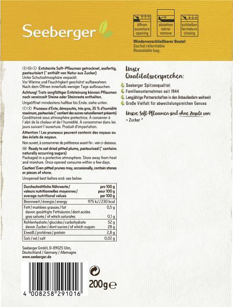 Seeberger Soft-Pflaumen