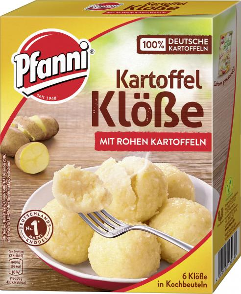 Pfanni Kartoffel Klöße in Kochbeuteln