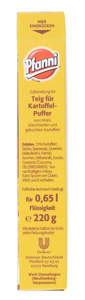 Pfanni Teig für Kartoffel-Puffer