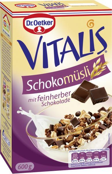 Dr. Oetker Vitalis Schoko Müsli feinherbe Schokolade