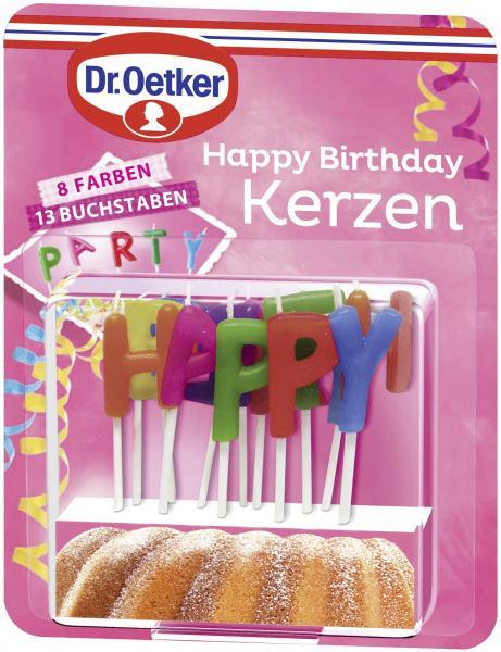 Dr. Oetker Happy Birthday Kerzen