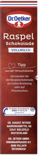 Dr. Oetker Raspel Schokolade Vollmilch