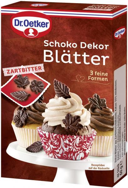 Dr. Oetker Schoko Dekor Blätter Zartbitter