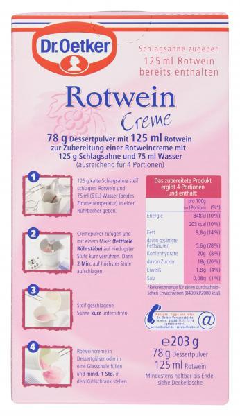 Dr. Oetker Creme Rotwein