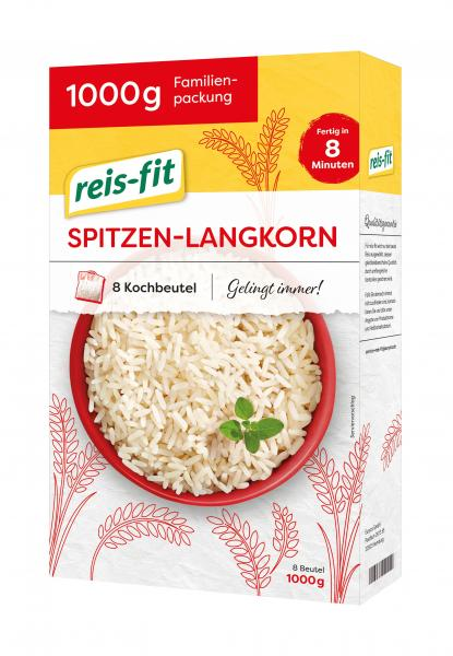 Reis-fit 8 Minuten Spitzen-Langkorn-Reis Kochbeutel