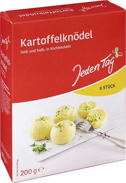 Jeden Tag Kartoffelknödel halb und halb in Kochbeuteln