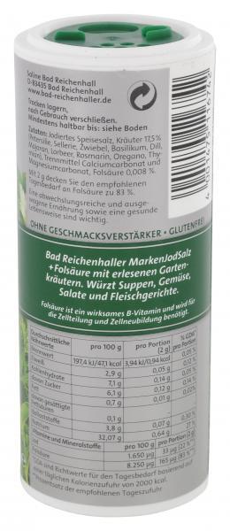 Bad Reichenhaller Kräuter Salz mit Folsäure